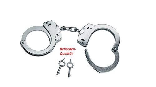 KS-11 Polizei Handschellen mit Kette und Schlüssel für Security Ausrüstung – handcuffs zum fesseln - kein...