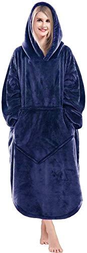 Lushforest Decken-Hoodie, übergroßes Sweatshirt Tragbare Fleece-Decke, Superweiche, warme, Bequeme...