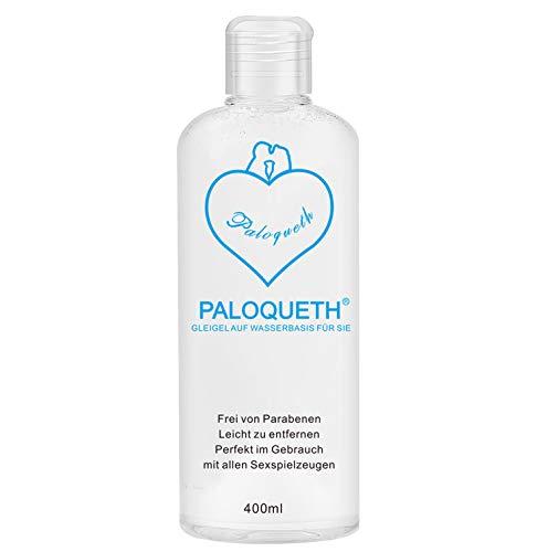 PALOQUETH Gleitgel auf Wasserbasis (400 ML), Premium Aqua Gleitmittel Sicher Langzeitwirkung Und Intimgel...