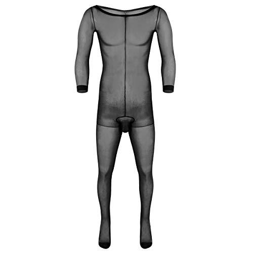 winying Herren Strumpfhose Overall Ganzkörper Unterwäsche Unterhose Tights mit Penishülle Sexy Dessous...