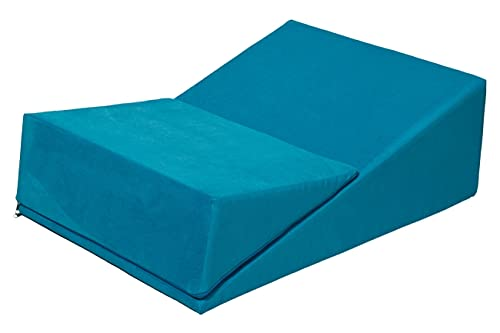 Velinda Sex-Keil keilförmiges Sex-Kissen Liebeskissen Sexmöbel Liebesmöbel Erotikmöbel (Farbe: blau)
