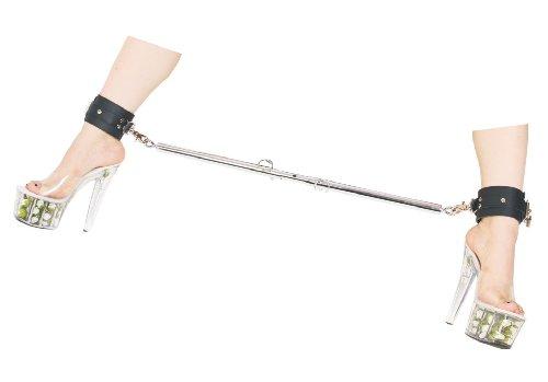 Bondage verstellbare Erotik Metall Spreizstange mit Leder Fußfesseln Bein Spreizstange mit Fuß Fesseln