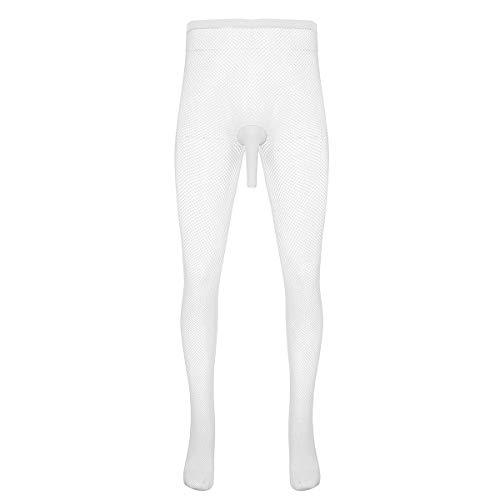 YiZYiF Herren Strümpfe Strumpfhosen Nutzstrumpfhose Leggings Hose Tights sexy offene/geschlossene Transparent...
