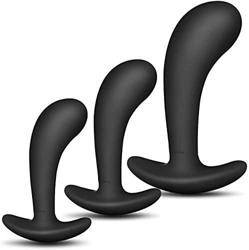 Enlove Silikon Analplug Set Klein Medium Groß Mit Tragen außen Fetisch Masturbation Anal Butt Plug Analplugs...