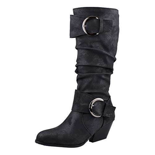 Dorical Damen Übergroße Stiefelette Frauen Stiefel,Boot High Heels Stiefeletten Damenstiefelette Casual...