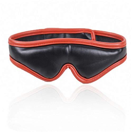 Eye Mask, Faux Leather Sponge Eye Patch Eye Mask Sleeping Mask Shadow Cover Adult Sleeping Mask Flirter Game...