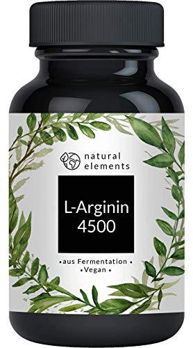 L-Arginin - 365 vegane Kapseln - 4500mg pflanzliches L-Arginin HCL pro Tagesdosis (= 3750mg reines L-Arginin)...