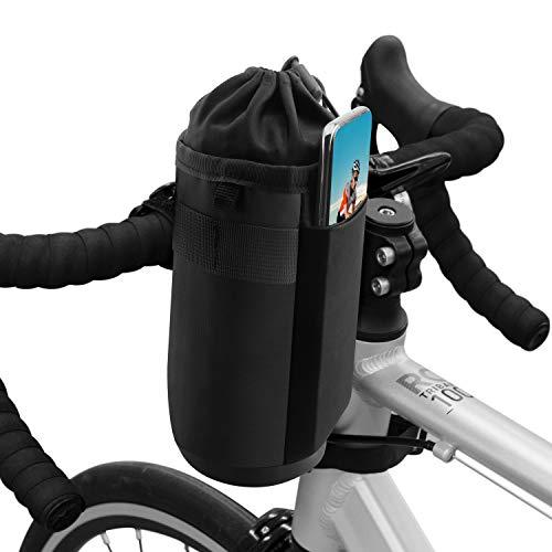Suruid Fahrrad Wasserflaschenhalter Tasche, Fahrrad Lenker Cup Getränkehalter Isolierte Stiel Wasserflasche...