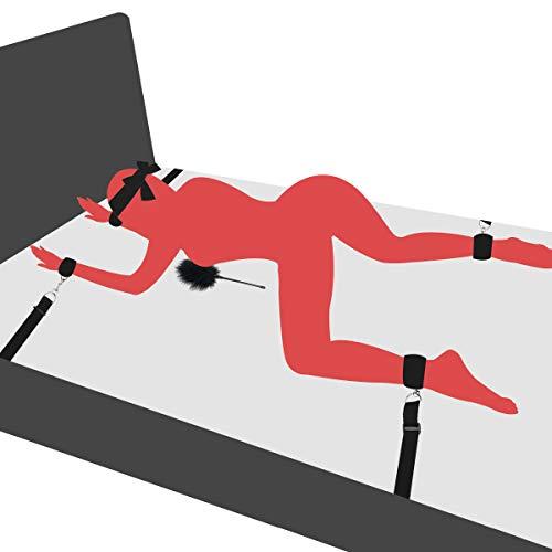 PALOQUETH BDSM Sex Bondage Fesseln mit Handfessel Fufesseln sexspielzeug fr Anfnger und Paare, mit spielsatin...