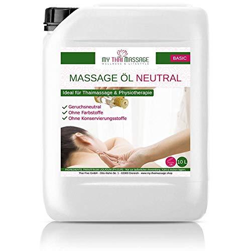 Kitama Massageöl Neutral & Soft 10-Liter MyThaiMassage für Physiotherapie Thai-Massage Spa Wellness