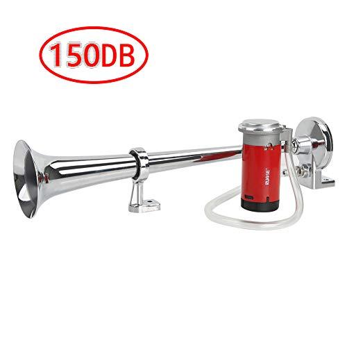 Rupse Hupe Luft Horn , Lufthorn Drucklufthorn auto Horn mit Kompressor 150db 12V für PKW LKW Booten...