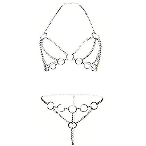 ADESUGATA Sexy Dessous Set,Damen-Bodysuit,Aushöhlen Spaß Unterwäsche, Offenen Schritt Perspektive Geschirr...