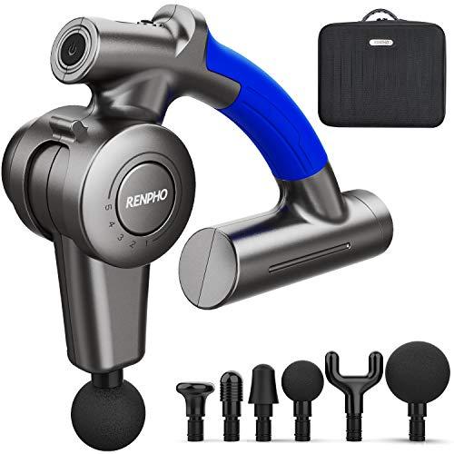 Massagepistole, RENPHO Muskel Massage Gun Massagepistole Elektrisch mit Verstellbarem Arm und 6...