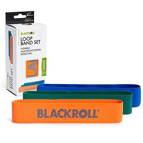 BLACKROLL Loop Band - Fitnessband Trainingsband Gymnastikband Sportband mit 3 Dehnbarkeiten in orange, grün...