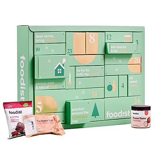 Foodist Snack Adventskalender 2021 - mit 24 Süßigkeiten wie Cookies, Snack Bites & Balls, Riegeln uvm. -...