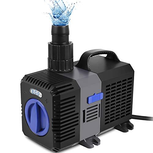 Forever Speed Super ECO Teichpumpe Filterpumpe Energiespar Wasserpumpe Koiteich Bachlaufpumpe (3000-12000L/H)...