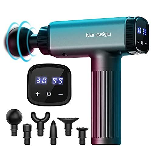 Massagepistole,Deep Tissue 30 Geschwindigkeiten Muskel Massagegerät Massage Gun,2600mah elektrische Handheld...
