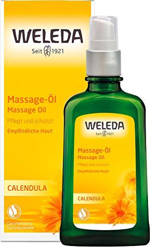 WELEDA Calendula Massage-Öl, Naturkosmetik Körperöl für die Pflege und Massage empfindlicher Haut, belebt...