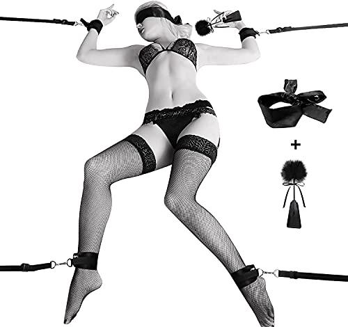 Utimi BDSM Sex Bondage mit Seile Handschellen Fußfesseln Bett Sets