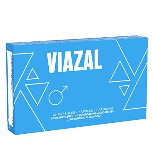 Viazal - Original Viazal blaue Pillen für aktive Männer - Ginkgo, Maca, D-Asparaginsäure, Ginseng - Zink...