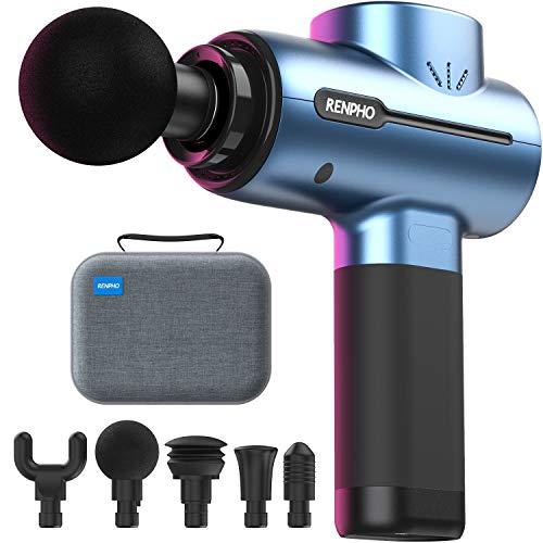 Massagepistole, RENPHO Mini Massage Gun mit bis zu 3200U/min Hand-Percussion-Muskelmassagegerät mit...