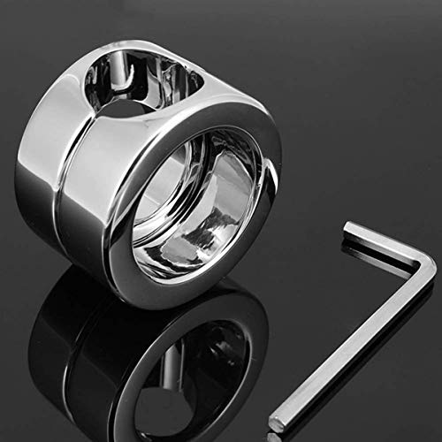 SAYPANLAR Penis Ring Edelstahl Ballstretcher Cockring Cock and Ball Lock Mannes Schwanz Ring Enhancer...