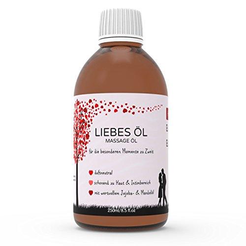 Kitama Massageöl Liebesöl für Erotische Massage | Partnermassage | Tantra - 250ml pflegendes Öl für die...