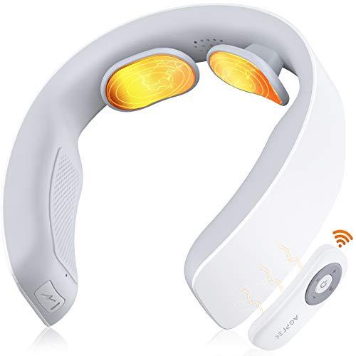 Nackenmassagegerät mit Wärmefunktion, AGPTEK Intelligentes Massagegerät 5Modi 16 Intensitätsstufen...
