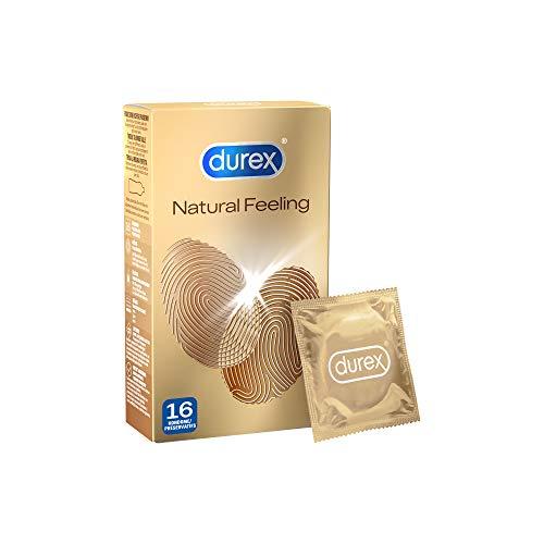 Durex Natural Feeling Kondome – Latexfreie Kondome für ein natürliches Haut an Haut Gefühl – 16er Pack...