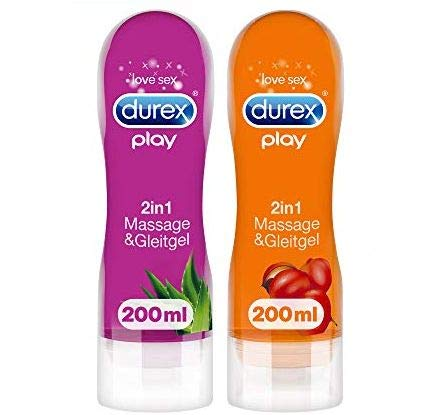 Durex Play 2in1 Massage- & Gleitgel Guarana + Durex Play 2in1 Massage- & Gleitgel Aloe Vera –...