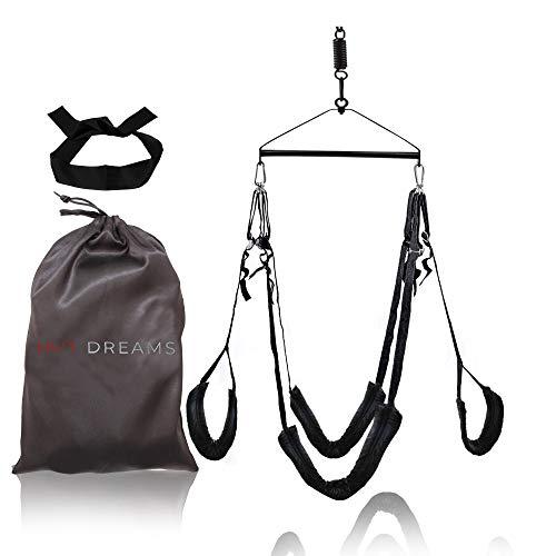 HOT DREAMS® Liebesschaukel Sexschaukel für die Decke, Deluxe Set breit & bequem gepolstert mit Sitz für...
