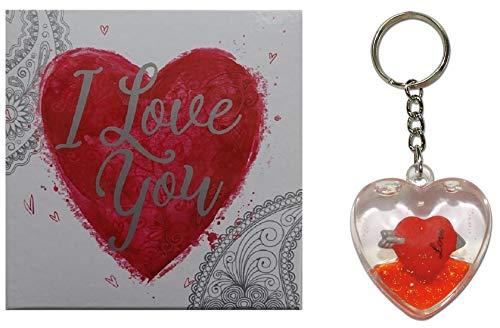 Schlüsselanhänger Anhänger mit Liebesherz Herz I Love You für Taschen Koffer Rucksäcke Zubehör Charm...