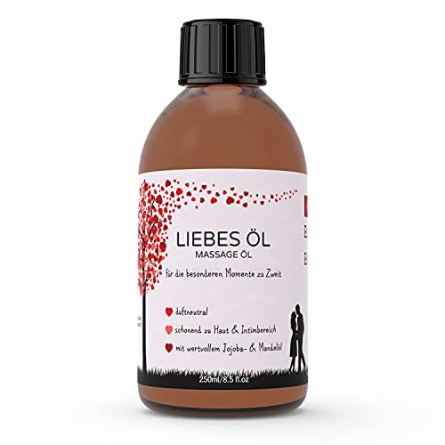 Kitama Massageöl Liebesöl für Erotische Massage   Partnermassage   Tantra - 250ml pflegendes Öl für die...
