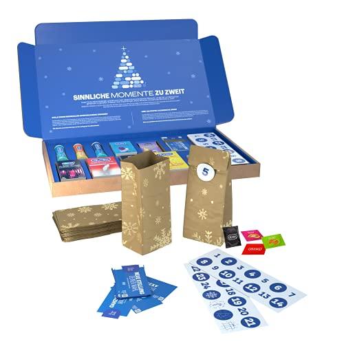 Durex DIY Adventskalender 2021 - Erotischer Weihnachtskalender mit Tüten zum Befüllen - Inkl. Durex Kondome,...