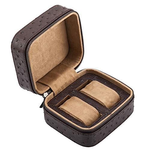 LCSD-Uhrenbox. PU Niet Samt Uhrenbox 2 Grid Unisex Schmuck Armband Perle String Aufbewahrungsbox Tragbare...