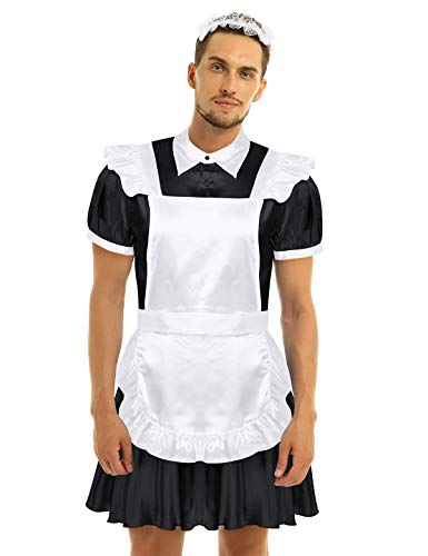 Alvivi Herren Zimmermädchen Kostüm Dienstmädchen Cosplay Männerkostüm Maid Kostüm Hausmädchen Lolita...