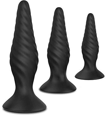 Analplugs Set Silikon Klein+Medium+Groß ButtPlug BDSM Fetisch Masturbation Sexspielzeug für Männer, Frauen...