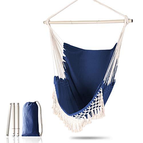 Chihee Hängesessel Großer entspannender hängender Schaukelstuhl Baumwollgewebe für überlegenen Komfort...