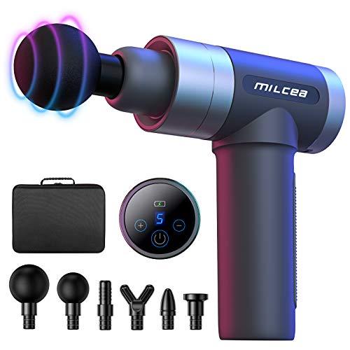 MILcea Massagepistole, Massagegerät mit 5 Geschwindigkeiten, LED-Anzeige-Touchscreen Massage Gun,...