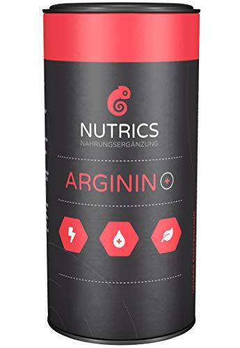 Nutrics Arginin +   100% Vegan   120 Kapseln   Hochdosiert   Aminosäuren hergestellt in Deutschland  ...