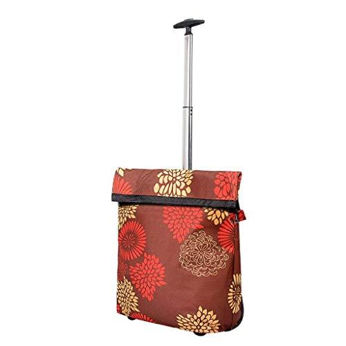 LQBDJPYS Einkaufstrolley Klappbaren tragbaren Trolley-Handtasche mit doppeltem Verwendungszweck Intimschmuck...