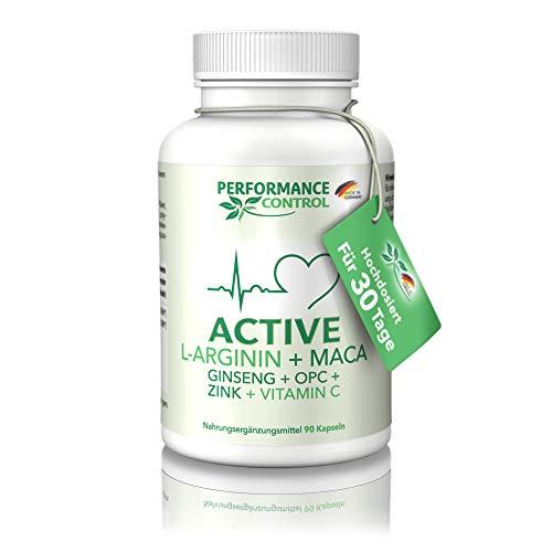 Performance Control® ACTIVE, Steigerung der Aktivität durch die innovative Rezeptur, L-Arginin + Maca +...
