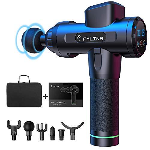 FYLINA Massagepistole, Massage Gun, Massagepistole Massagegerät mit 30 Geschwindigkeiten, Massagepistolen,...