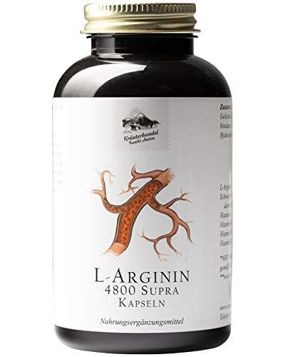 KRÄUTERHANDEL SANKT ANTON® - L-Arginin 4800 Supra Kapseln - 60 mg L-Arginin - Hochdosiert - Arginin Base und...