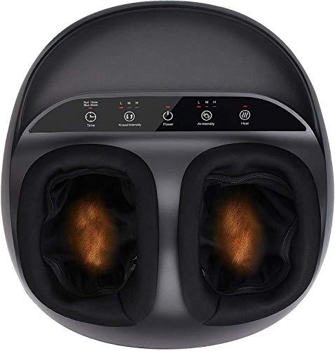 RENPHO Fußmassagegerät, Shiatsu Fussmassage mit Wärmefunktion, Kneten, Rollen und Luftkompression, Lindert...