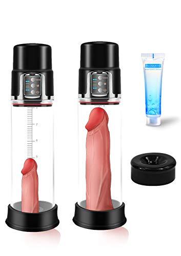 Elektrische Penispumpe für Männer, PALOQUETH Penispumpen Sexspielzeug für Penis Erektion Vergrößerung,...