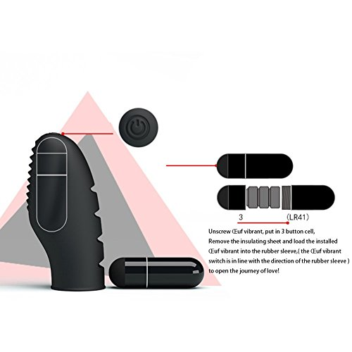 Silikon Erotik Fingervibrator mit Herausnehmbarem Bullet Klitoris Vibrator inklusive Batterien Sexspielzeug...