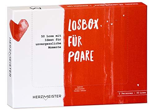 NEU: Losbox für Paare I Das Paar-Geschenk für 50 unvergessliche Momente I 50 Lose mit Ideen für Spiel,...