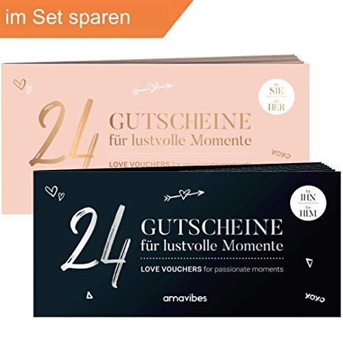 Spar-Set: Premium Liebes-Gutschein-Hefte im Doppelpack - perfekt als Adventskalender √ 2x24 als...