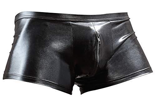 Orion Herren Pants - sexy Boxershorts mit Reißverschluss, Unterwäsche für Männer, glänzender Wetlook,...